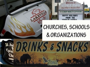 Churches, Schools and Organizations
