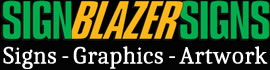 SignBlazerSigns Mobile Logo