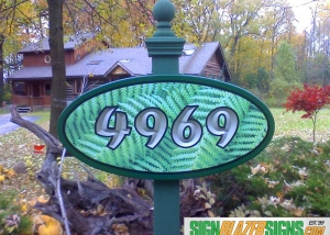 Fern House Sign