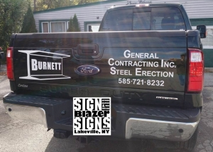 Burnett General Contracting Inc. Truck