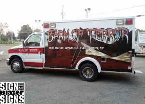Barn of Terror Ambulance
