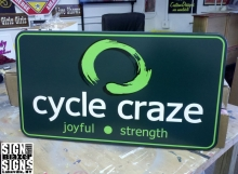 Cycle Craze Sign.