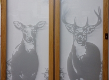 Etched Glass Deer