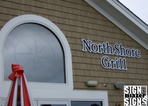 North Shore Grill - Glass Etch