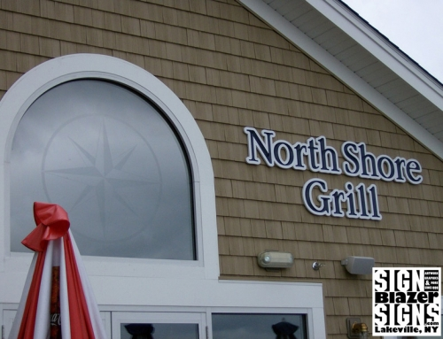 North Shore Grill – Glass Etch