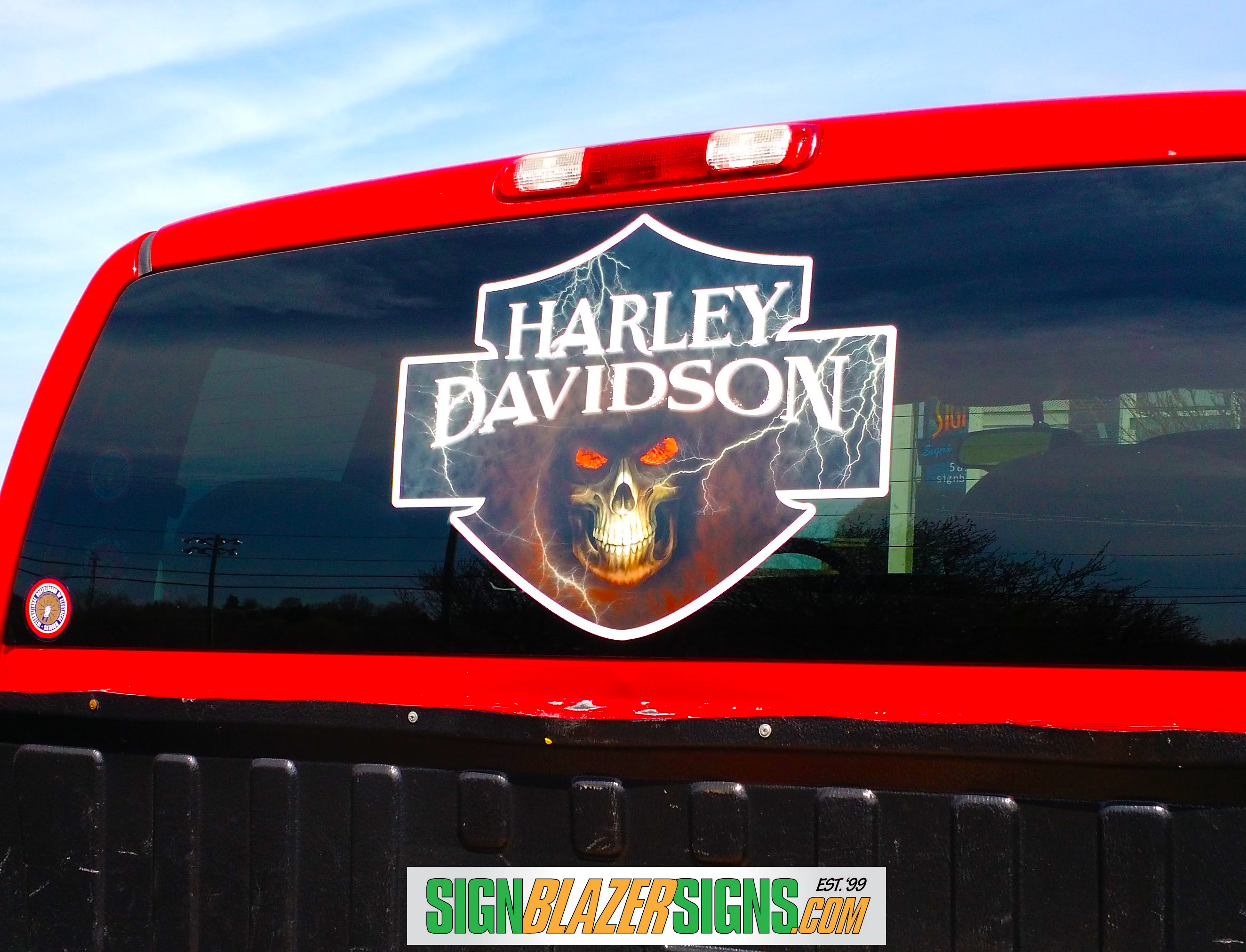 View larger image harley window decal